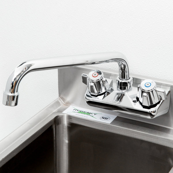 "Splash Mount Faucet with 4"" Centers - 10"" Spread Main Image 11"