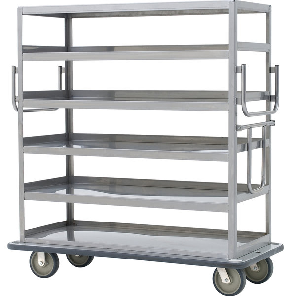 Metro MQ-512L Queen Mary Banquet Service Cart with 5 Ledged Shelves Main Image 1