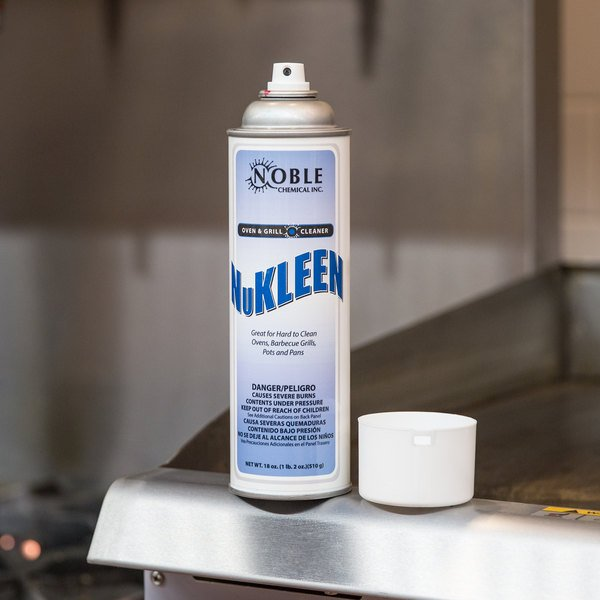 18 oz. Noble Chemical NuKleen Oven and Grill Cleaner Aerosol - Ecolab® 10126 Alternative (AMR A110)
