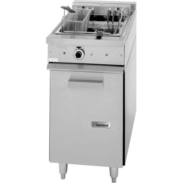 Garland S18SF Sentry Series Range Match 30 lb. Electric Floor Fryer - 240V, 3 Phase, 16 kW