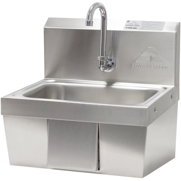"""Advance Tabco 7-PS-44 Hands Free Hand Sink with Panel Valve - 17 1/4"""" Main Image 1"""