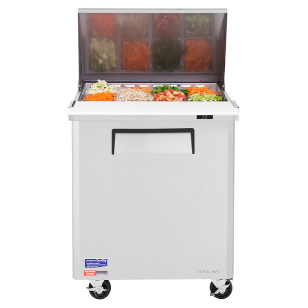 "Turbo Air MST-28-12 28"" 1 Door Mega Top Refrigerated Sandwich Prep Table"