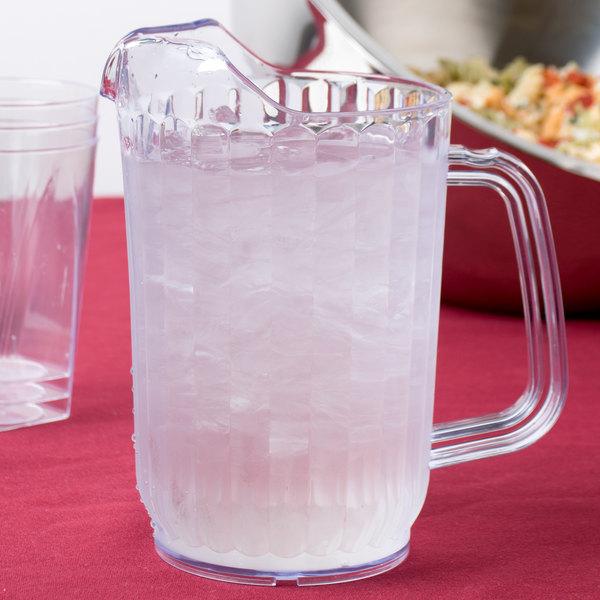 Choice 32 oz. Clear SAN Plastic Beverage Pitcher