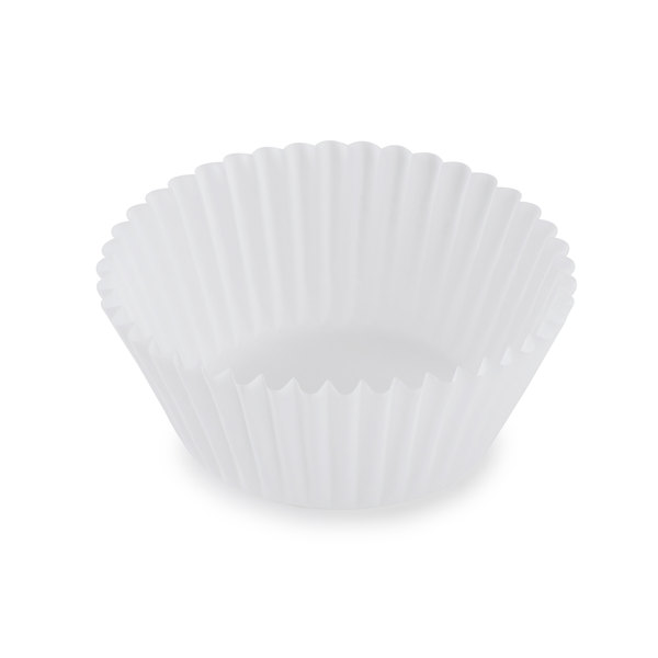 White Fluted Baking Cup 2 1/4 inch x 1 3/8 inch - 10000/Case