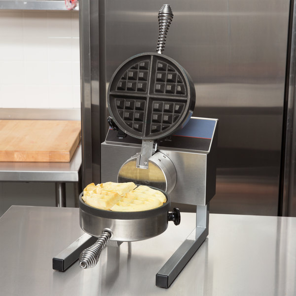 Nemco 7020A-S SilverStone Non-Stick Belgian Waffle Maker with Removable Grids - 120V Main Image 9