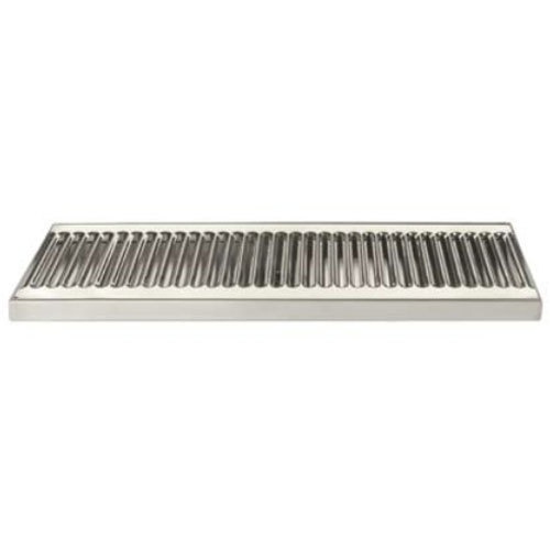"Micro Matic DP-120D-20 5"" x 20"" Stainless Steel Surface Mount Drip Tray with Drain Main Image 1"