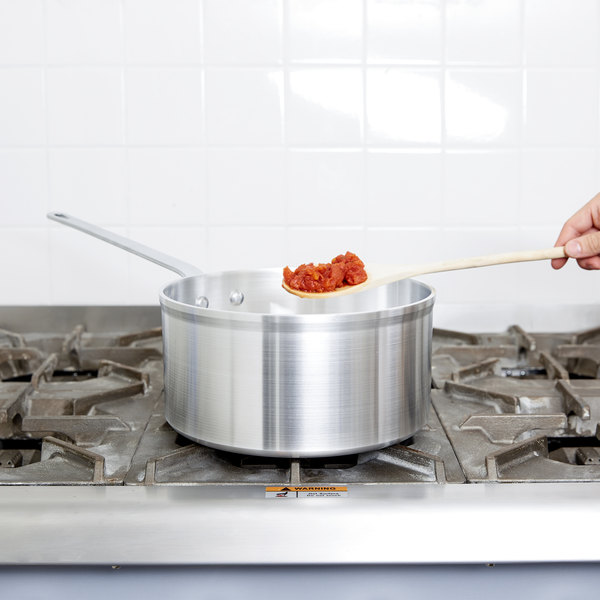 Vollrath 4109 Wear-Ever Classic Select 6.5 Qt. Straight Sided Deep Sauce Pan with Traditional Handle