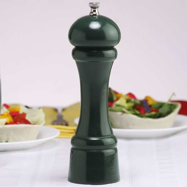 """Chef Specialties 08851 Professional Series 8"""" Customizable Autumn Hues Forest Green Pepper Mill"""