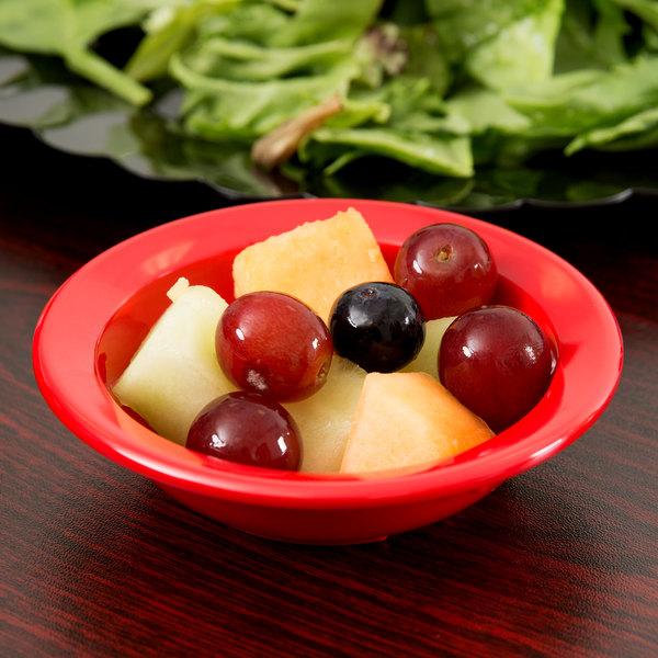 Carlisle 4353205 Dallas Ware 3.5 oz. Red Fruit Bowl - 48/Case