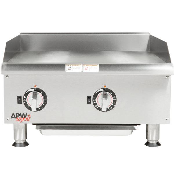 "APW Wyott EG-24i 24"" Electric Countertop Griddle 208V"