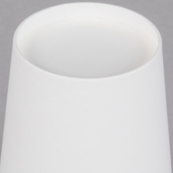 Choice 12 oz  White Poly Paper Hot Cup - 1000/Case