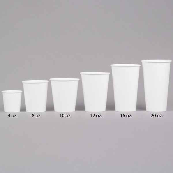 Choice 12 Oz White Poly Paper Hot Cup 1000 Case