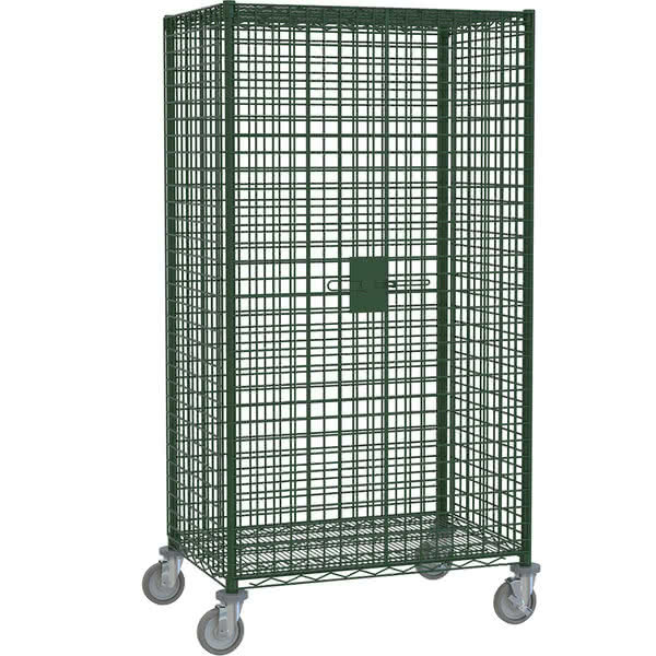 """Metro SEC53EK3 Metroseal 3 Mobile Standard Duty Wire Security Cabinet with Casters (Two Locking) - 40 3/4"""" x 27 1/4"""" x 68 1/2"""" Main Image 1"""