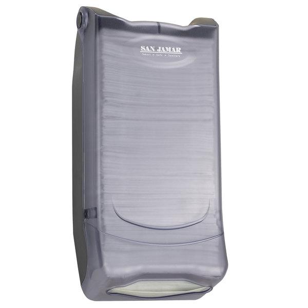 San Jamar H5000PCL Minifold Venue Wall Mount Napkin Dispenser - Clear