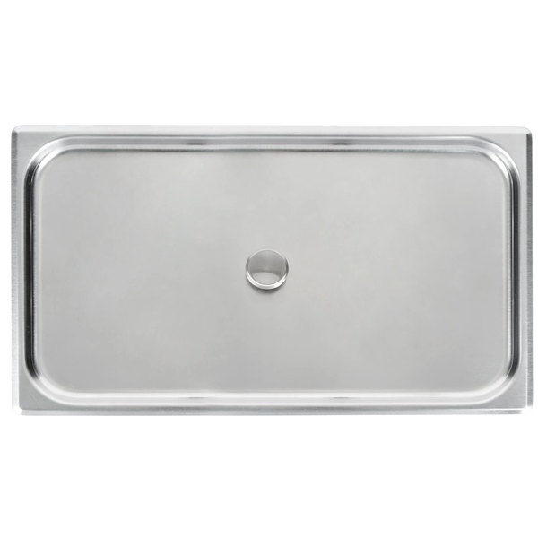 Vollrath 75061 Flat Cover with Knob for 75060 Full Size Egg Poacher / Juice Glass Holder