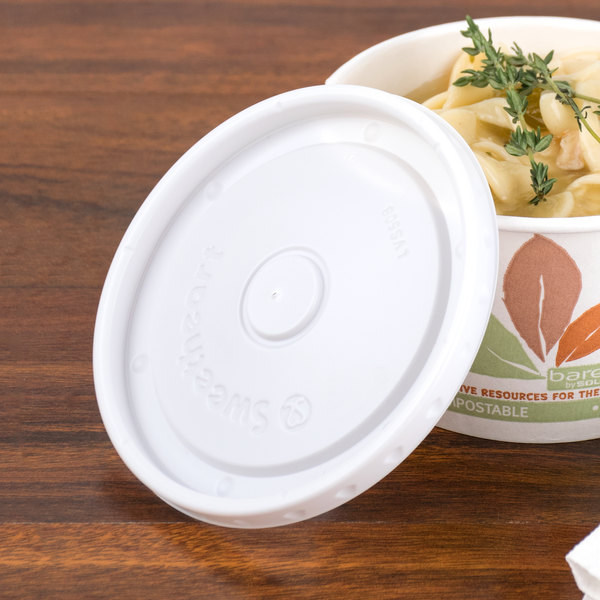 Bare by Solo LVS508-0007 8 oz. Soup / Hot Food Cup Lid - 2000/Case Main Image 2