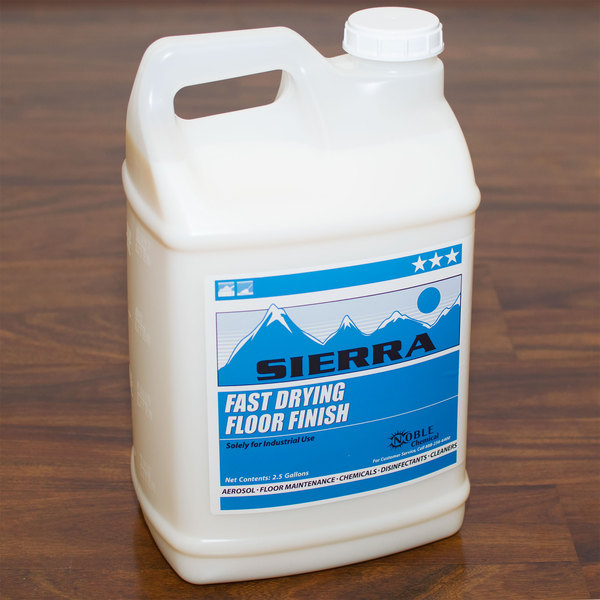 2.5 Gallon Sierra by Noble Chemical Fast Drying Floor Finish