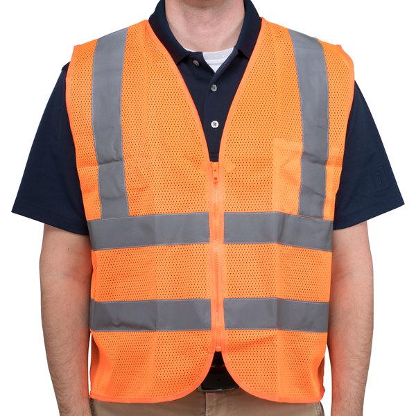 Orange Class 2 High Visibility Safety Vest - XL