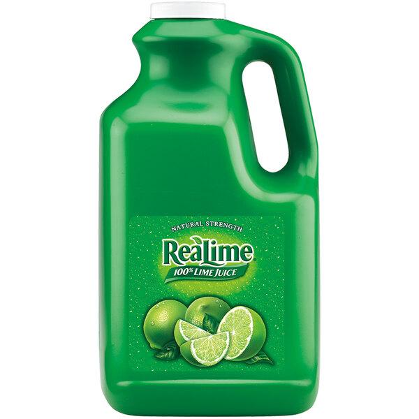 ReaLime 1 Gallon 100% Lime Juice - 4/Case Main Image 1