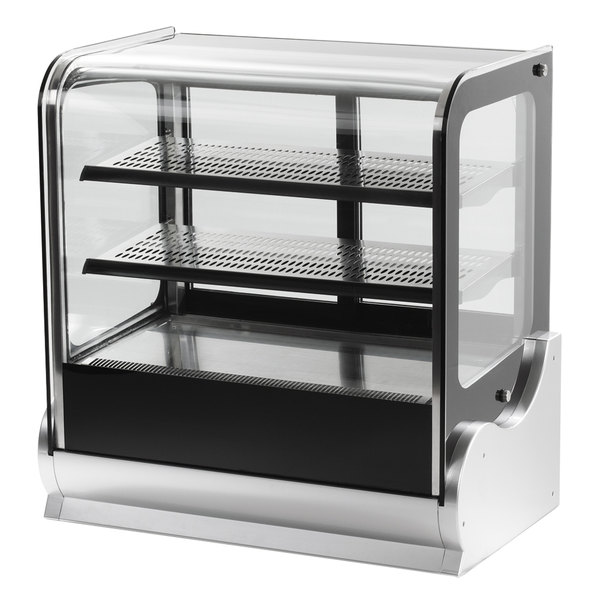 """Vollrath 40863 48"""" Cubed Glass Refrigerated Countertop Display Cabinet"""