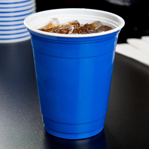 Dart Solo P12SB 12 oz. Blue Plastic Cup - 1000/Case