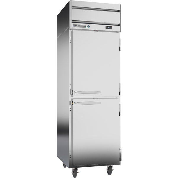 "Beverage-Air HRP1-1HS Horizon Series 26"" Solid Half Door Reach-In Refrigerator"