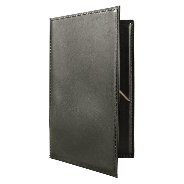 "5 1/4"" x 8 1/2"" Black Vinyl Guest Check Order Holder"