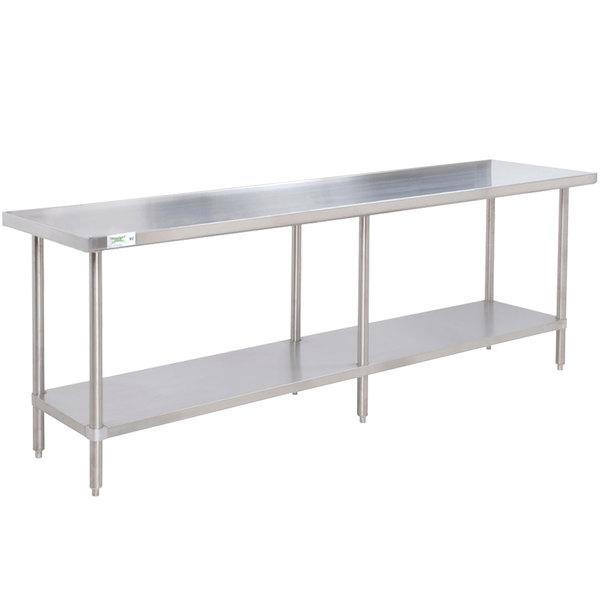 "Regency 30"" x 84"" 16-Gauge 304 Stainless Steel Commercial Work Table with Undershelf"