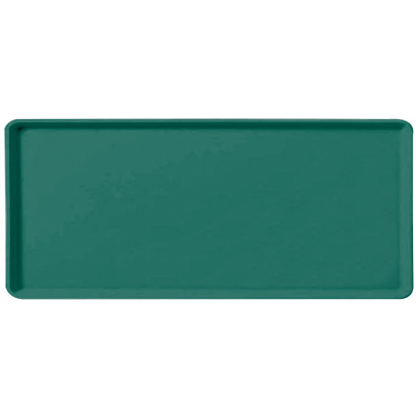 "Carlisle 1219LFG010 Customizable 12"" x 19"" Glasteel Forest Green Dietary Fiberglass Tray - 12/Case"