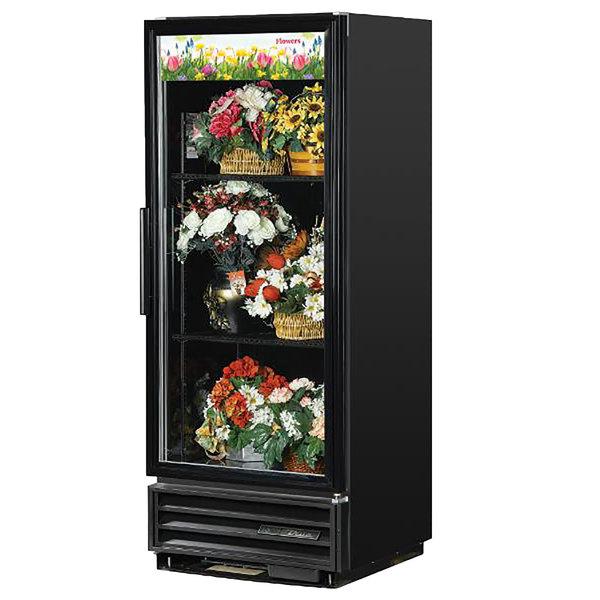 True GDM-12FC-LD Black Glass Door Floral Case - 12 Cu. Ft.