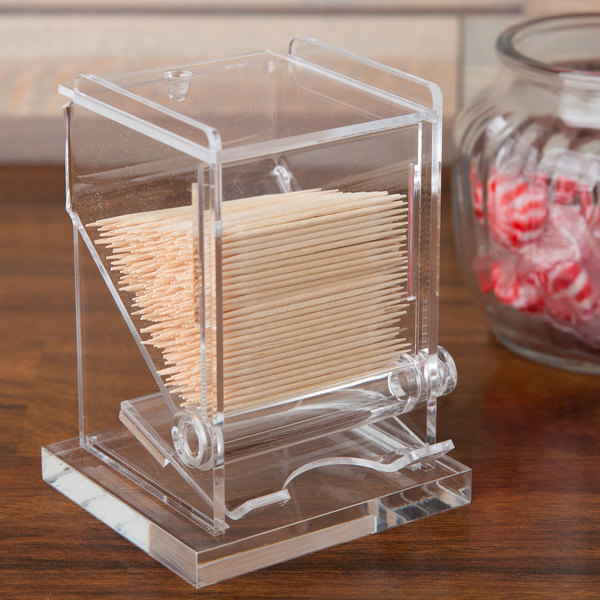 "Cal-Mil 295 Classic Unwrapped Toothpick Dispenser - 3 3/4"" x 3 1/4"" x 5 1/4"""