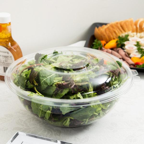 Fineline Settings Super Bowls Black 48 Oz Salad Bowl PET 50 Pieces