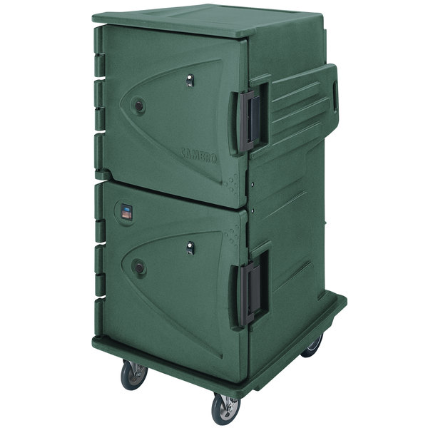 Cambro CMBHC1826TBC192 Camtherm® Granite Green Tall Profile Electric Hot / Cold Food Holding Cabinet in Celsius - 110V Main Image 1