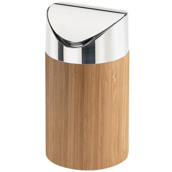 "Cal-Mil 1717-60 Bamboo Counter Trash Bin - 5"" x 7"""