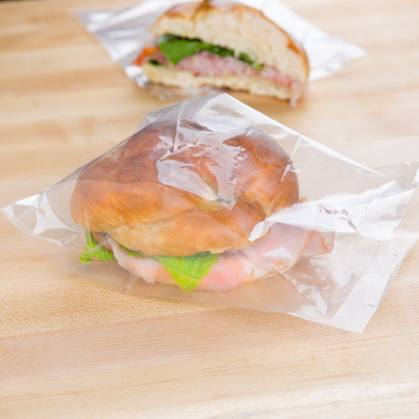 "Plastic Food Bag 6"" x 8"" Sandwich Size On a Roll - 1750/Roll Main Image 3"
