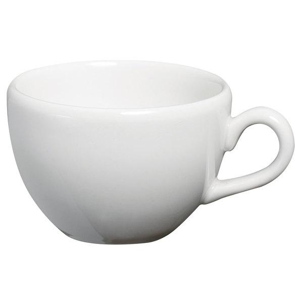 Homer Laughlin 20136800 Ameriwhite Alexa 14 oz. Bright White China Tea Cup - 12/Case