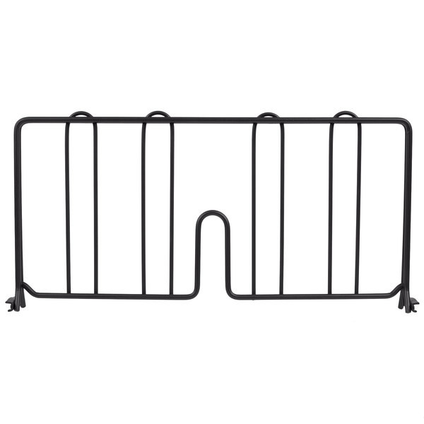 "Metro DD18BL 18"" Black Wire Shelf Divider"