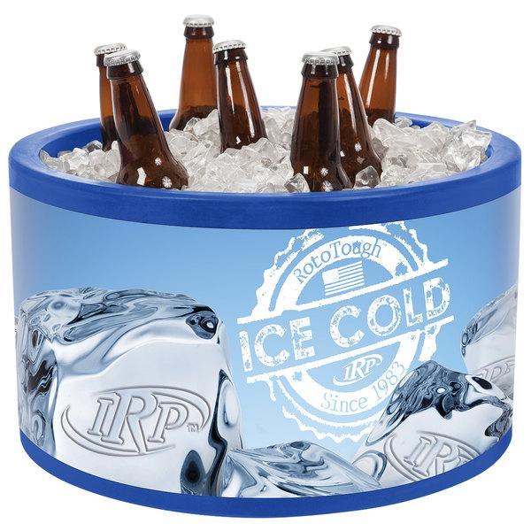 IRP 400 Blue Icer 20 Qt. Round Countertop Merchandiser