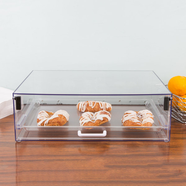 """Cal-Mil 920 Classic Stackable Acrylic Display Case with Front Door - 18 1/2"""" x 14"""" x 6"""""""