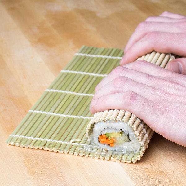 """9 1/2"""" x 9 1/2"""" Bamboo Sushi Rolling Mat"""