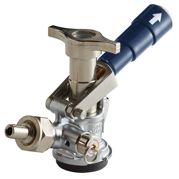 """Micro Matic 7485BB-B """"D"""" System Beer Keg Coupler with Blue Lever Handle Main Image 1"""