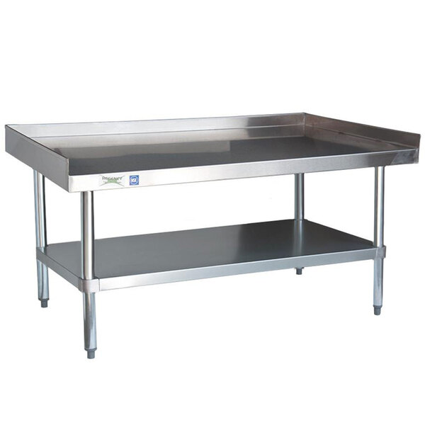Regency 16 Gauge 30 inch x 60 inch Stainless Steel Equipment Stand with Galvanized Undershelf