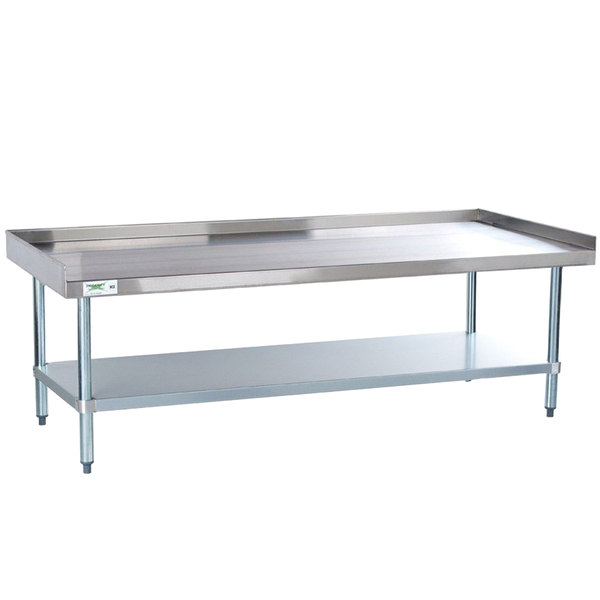 Regency X Gauge Stainless Steel Equipment Stand With - Stainless steel table with lip