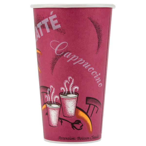 Dart Solo 420SI-0041 Bistro 20 oz. Poly Paper Hot Cup - 40/Pack