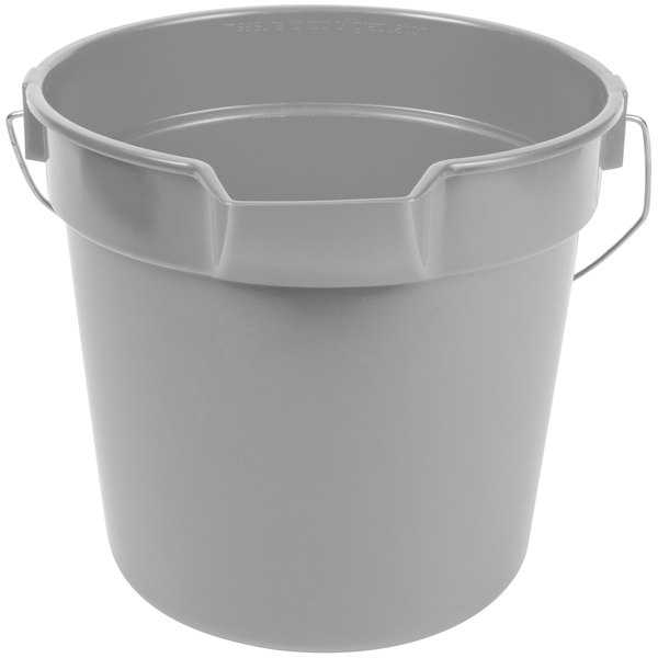 Continental 8110GY Huskee 10 Qt. Gray Round Utility Bucket