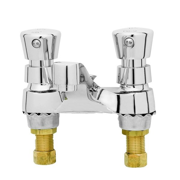 "T&S B-0831 Deck Mounted Self Closing Faucet - 4"" Centers"