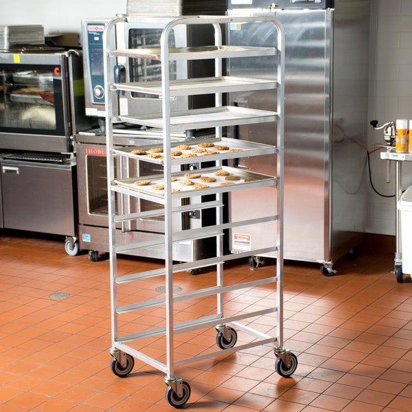"""Winholt AL-1810B End Load Aluminum Platter Cart - Ten 18"""" Trays"""