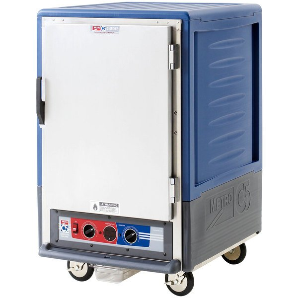 Metro C535-MFS-L-BU C5 3 Series Heated Holding and Proofing Cabinet with Solid Door - Blue Main Image 1