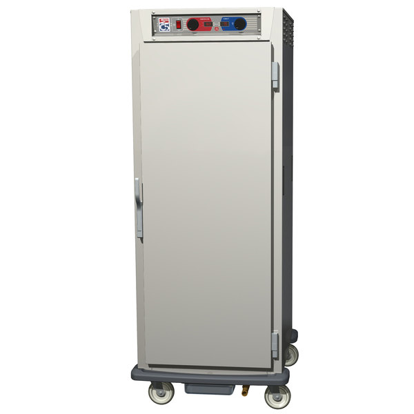 Metro C599-SFS-UPFC C5 9 Series Pass-Through Heated Holding and Proofing Cabinet - Clear / Solid Doors