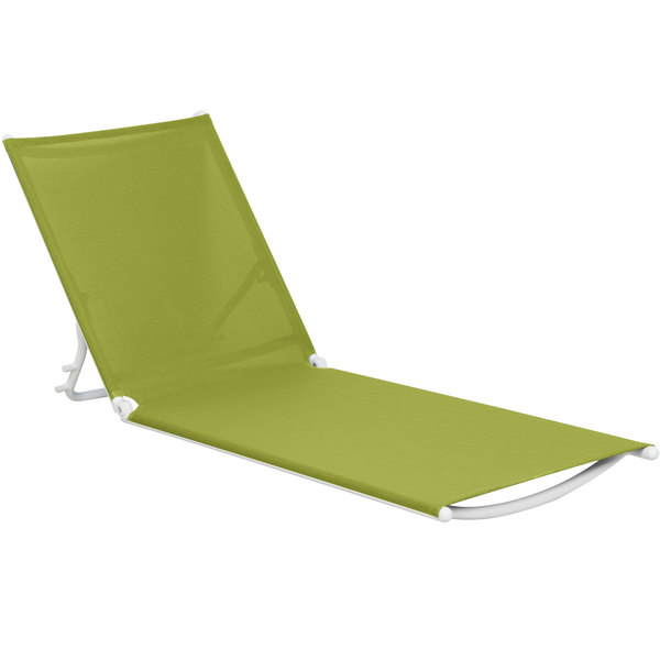 Grosfillex US673152 Fern Green Replacement Sling for Calypso Stacking Adjustable Resin Chaises in White